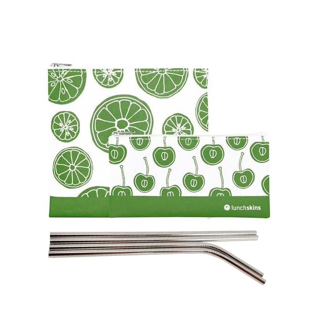 Nestispoki LUNCHSKINS green fruit og járnrör